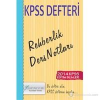X Yayıncılık KPSS 2014 Eğitim Bilimleri Rehberlik Defteri