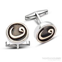 Tesbihane 925 Ayar Gümüş Vav Model Kol Düğmesi