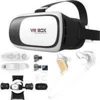 Melefoni Vr Box Sanal Gerçeklik Gözlüğü Google Cardboard Bluetooth Kulaklık Ve Kumanda 6İnc