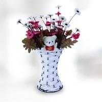Sevgiliye Hediye Sevimli Ayıcık Renkli Çiçekler