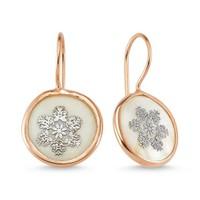 Silver & Silver Doğal Mine Taşlı Gümüş Küpe