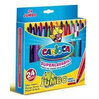 Carioca Jumbo Yıkanabilir Keçeli Boya Kalemi 24'Lü