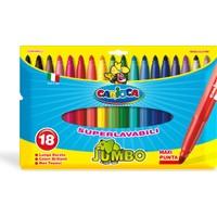 Carioca Kalın Keçeli Boya Kalemi Yıkanabilir 18'li