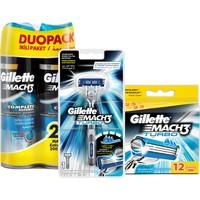 Gillette Mach3 Turbo Tıraş Paketi (Tıraş Makinesi + 12'li Bıçak + 2'li Jel)