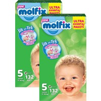 Molfix Bebek Bezi Comfort Fix Ultra Avantaj Paketi Junior 5 Beden 264 Adet