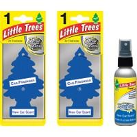 Car Freshener Little Trees Kağıt Koku Yeni Araba Kokusu 2 Adet + Sprey Koku Hediye