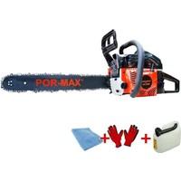 Por-Max CS-5200 Ağaç ve Odun Kesme Motoru - Benzinli Testere 3Hp 38 Diş