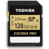 Toshiba Exceria Pro 128GB 270MB-250MB/s SDHC /SDXC UHS-II Class 3 SD Kart