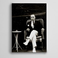 Dekolata Atatürk Türk Kahvesi Kanvas Tablo Boyut 30 x 40