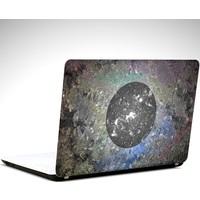 Dekolata Siyah Daire Laptop Sticker Boyut LAPTOP 19 inch (40,5X27)