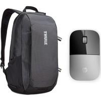 Thule Enroute Notebook Laptop Sırt Çantası 13 inç CA.TEBP213K + Hp Z3700 Kablosuz Mouse Gri