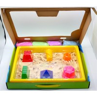 Kinetic Sand Uzay Kumu - 1 kg Premium Oyun Hamuru - Sihirli Kum 3 F