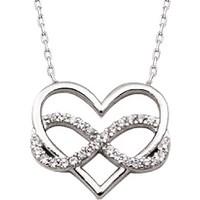 Altınsepeti Gümüş Sonsuzluk Kalp Kolye G601Kl