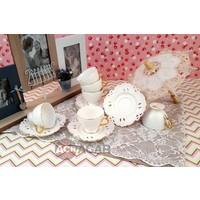 Acar 12 Parça Altı Kişilik Porselen Kahve Fincan Takımı 006333/12