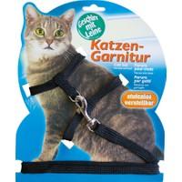 Katzen Katzen Kedi Göğüs Tasması Düz Siyah