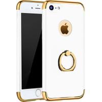 Kapakevi Apple iPhone 6/6S Plus Selfie Yüzüklü Beyaz Koruyucu Kapak Kılıf