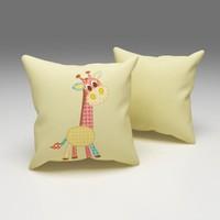 Erenev Çiçekli Zürafa Dekoratif Yastık Kılıfı Ern07018601