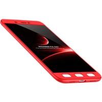 Sonmodashop Xiaomi Redmi 4X Kılıf 360 Sert Rubber Tam Koruma + Cam