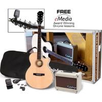 Epiphone PR-4 Akustik Gitar Seti - Gitar + Amfi + Çanta + Askı + Pena + Tel ve Akort Cihazı Full Set