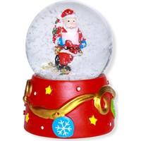 Kikajoy Tonton Noel Baba Figürlü Dekoratif Kar Küresi 9 cm - 1 adet