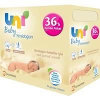 Uni Baby Yenidoğan Islak Pamuk Mendil 36'lı Fırsat Paketi - 1.440 Yaprak