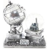 MamaCamilla Eskitme Nostaljik Dünya Müzikli Sulu Küre Love Gold ve Gümüş Rengi