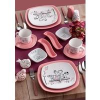 Keramika 14 Parça Köşem 2 Kişilik Kahvaltı Seti Tatlı Düş