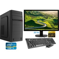 "Gamyx GMX5008 Intel Core i3 530 8GB 500GB Freedos 21.5"" FHD Masaüstü Bilgisayar"