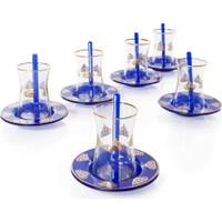 Yargıcı Mavi Kristal 18 Parça. Çay Seti YGC-42808C