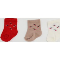 Sebi Bebe A197 3'lü Bebek Çorabı