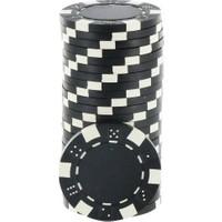 Pusula Oyun Siyah Renk 100 Adet Poker Çipi İ 11,5 Gr