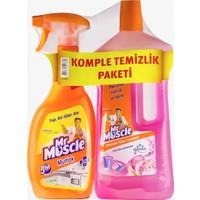 Mr Muscle Promo Mutfak Temizleyici Limon 750 ml + Mr Muscle Yüzey Temizleyici Floral 1 lt