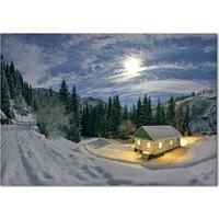 Evmanya Deco Kar Manzarası Kanvas Tablo