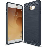 CoverZone Samsung Galaxy C7 Pro Kılıf Room Extreme Silikon + Kırılmaz Cam
