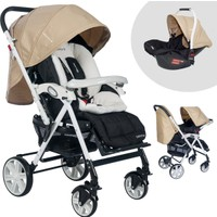 Baby Home Bh-2090T Comfort Pedli Travel Sistem Bebek Arabası Krem