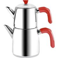 Emsan Kalamış Çaydanlık Takımı - Kırmızı