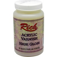 Rich High Gloss Parlak Su Bazlı Vernik 250Cc