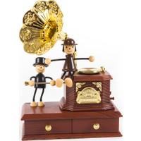 Mama Hareketli Nostaljik Gramafon Müzik Kutusu Mücevherlik Takı Kutusu
