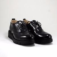 Oxford Rugan Siyah Bayan Ayakkabı