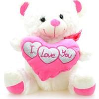 Emre Toys I Love You Pelüş Kalpli Ayıcık 37 cm Pembe
