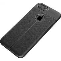 Happyshop Apple iPhone 6-6S Kılıf Deri Görünümlü Lux Niss Silikon + Cam