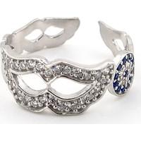 Solfera Venedik Maske Nazar Boncuğu 925 Ayar Gümüş Bayan Yüzük Rg006