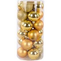 KullanAtMarket Altın Yılbaşı Ağaç Süs Seti 6 cm 24'lü