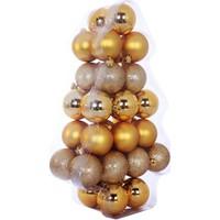 KullanAtMarket Altın Yılbaşı Ağaç Süs Seti 6 cm 34'lü