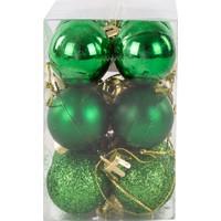 KullanAtMarket Yılbaşı Ağaç Süs Seti Yeşil 3 cm 12'li