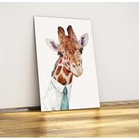 Bay Zürafa (Hipster) - Dekoratif Metal Poster
