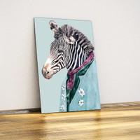 Zebra (Hipster) - Dekoratif Metal Plaka
