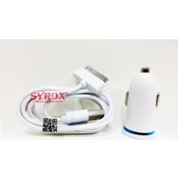 Syrox Apple iPhone 4/4S Uyumlu Araç Şarj Cihazı Ve Data Kablosu