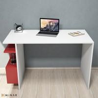 Cend Çalışma Masası-Beyaz-Kırmızı