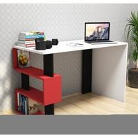 Snap Mini Çalışma Masası-Beyaz-Kırmızı-Siyah